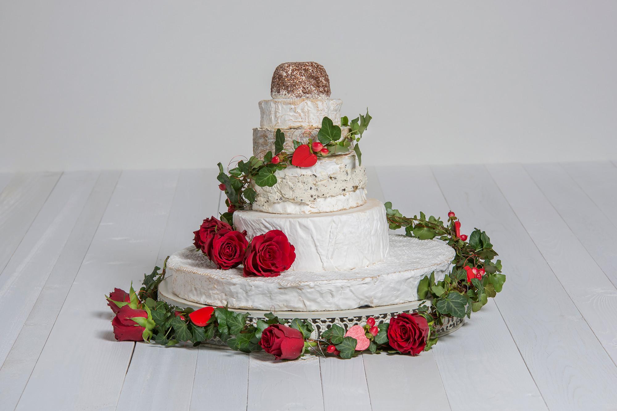 Käse-Hochzeitstorte 'Sophia' Probierpaket
