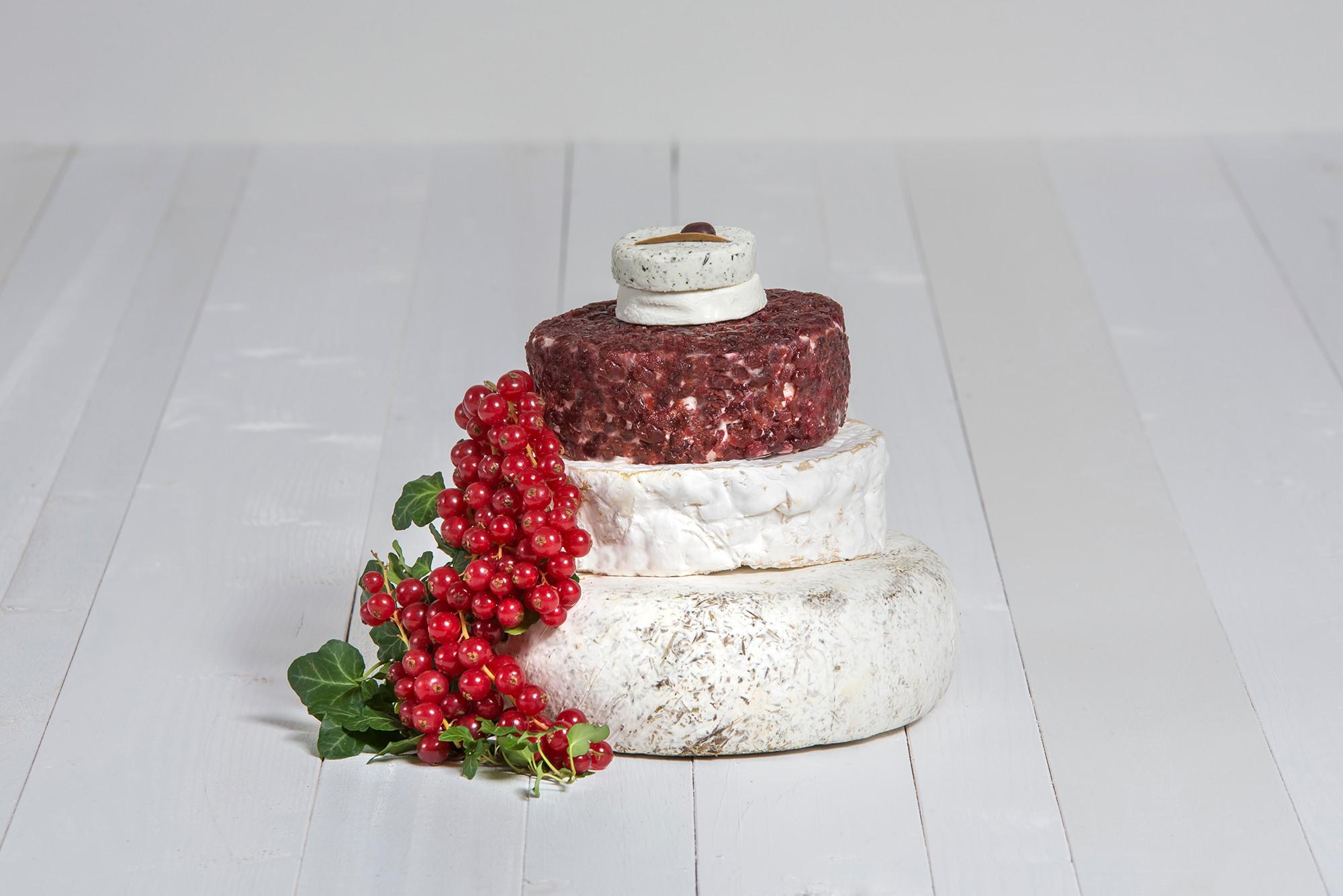 Käse-Hochzeitstorte 'Josefine'