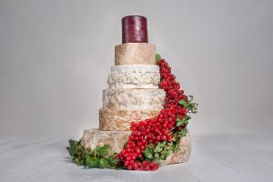 Käse-Hochzeitstorte 'Wilhelmina'